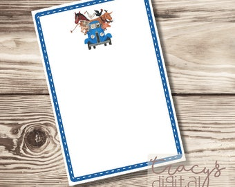 Li'l Blue Truck Birthday Invitation - Blank Digital Invitation Kit - Instant Download