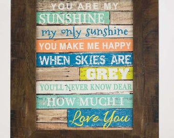 You Are My Sunshine Light Blocking Decor Framed Picture