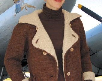 Bomber Jacket to Knit PDF Pattern Instant Download