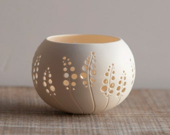 porcelain candle holder design N.8. wedding candle holder. ceramic tea light holder. Porcelain Tea light Delight Collection by Wapa Studio.