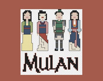 Mulan's Outfits PDF Cross-Stitch Pattern