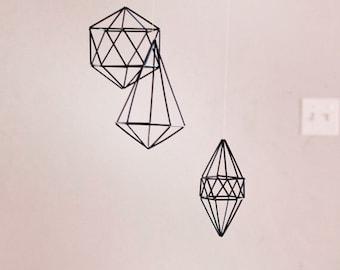 Black or Gold Geometric Mobile