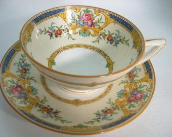 Rare Minton Tea cup And Saucer ,  Minton Canterbury tea cup, Hand Painted Tea cup and saucer.