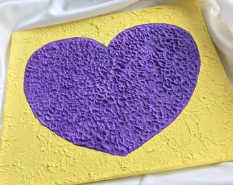 Mystery - A purple uneven heart acrylic painting from the heart series of CrazyForBeauty