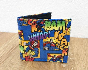 Wallet - Mens Superhero Comic Billfold Pocket Wallet