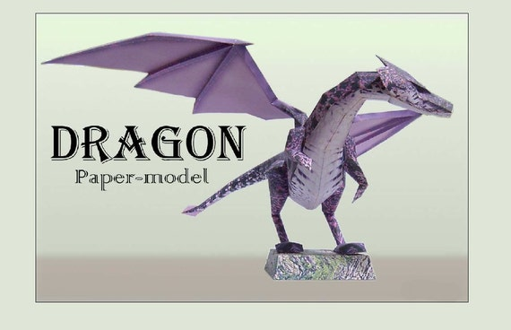 Dragon diy printable paper model kit papercraft pattern paper dragon diy printable paper model kit papercraft pattern paper craft dragon model template from 2diyprojects on etsy studio maxwellsz