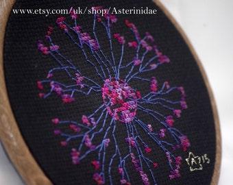 Plasma ball hand embroidery display art