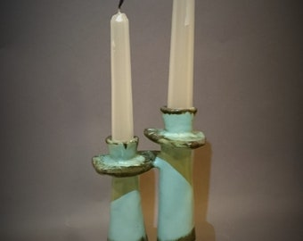 Retro Candle Holder Art Pottery