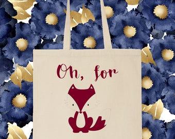 For Fox Sake Shopping Tote Bag