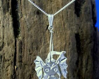 Silver Dragon Pendant, Dragon Necklace, Dragon Jewellery, Handmade, Mythical jewellery, Dragons, Fantasy Jewellery, Dragon Gift