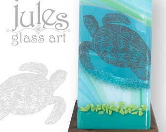 Sea Turtle Glass Candle Holder