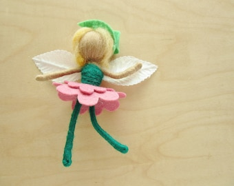 Needle Felted Spring Fairy- Wool decoration