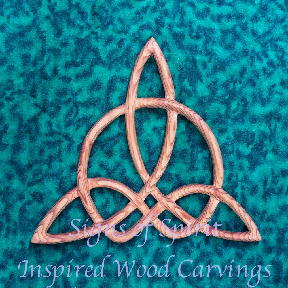 Celtic triquetra of harmony wood carved knot zoom biocorpaavc Choice Image