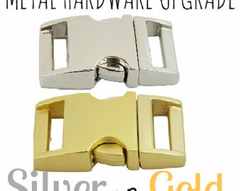 Gold OR Silver Metal Hardware Upgrade for BFF collar and/or Bracelet