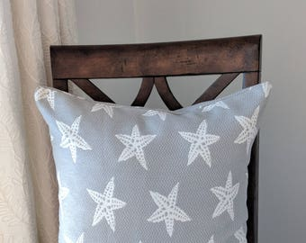 Indoor/Outdoor Grey with Stars Cushion Cover. Multiple Sizes Available.