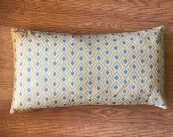 Gold and Teal Geometric Pillow Covers