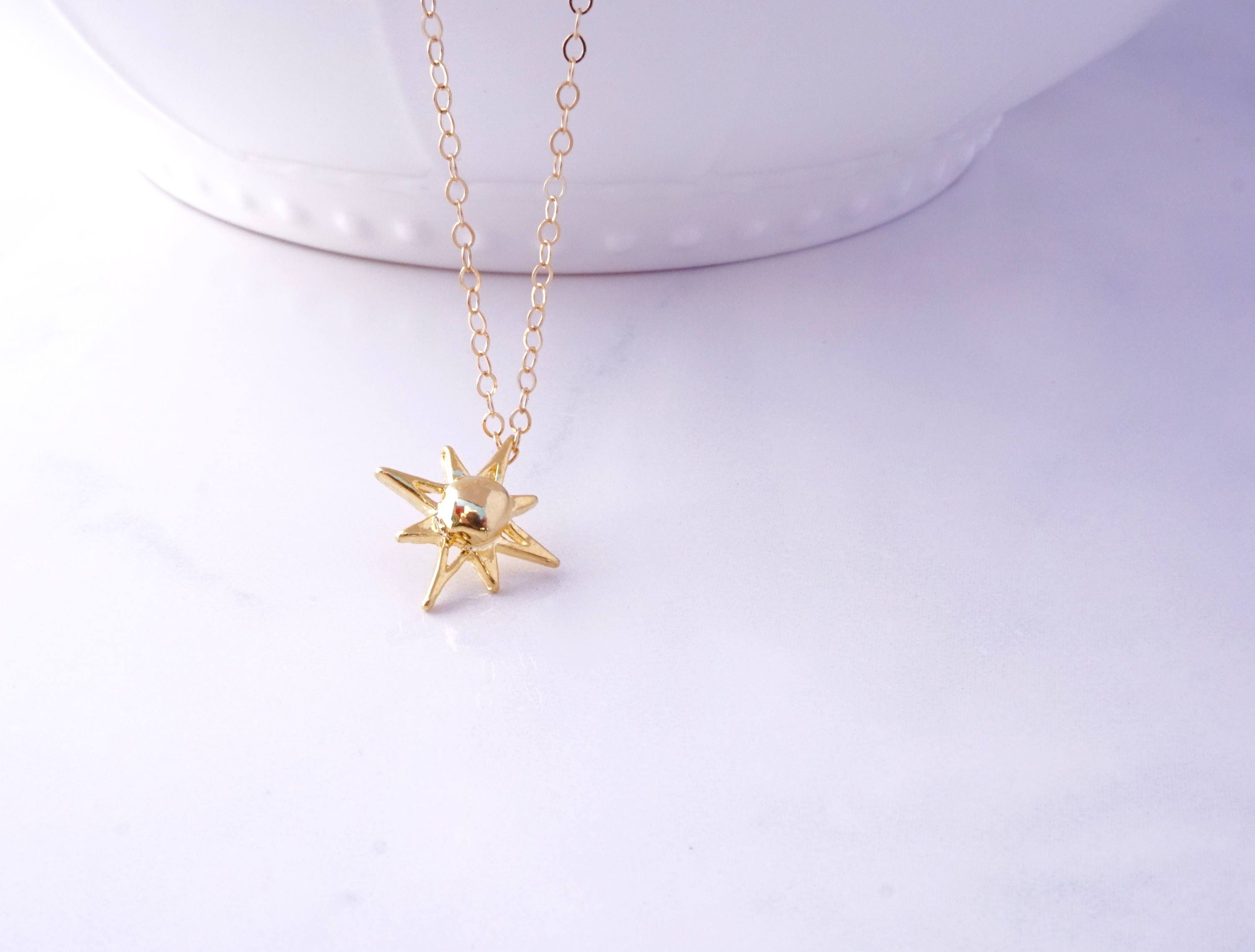 pendant north long gold diamonds men angle star and image product jewellery for northstar collection with chain up