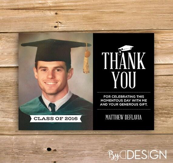 graduation thank you card college high school grade school