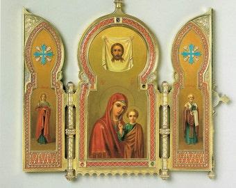 Giclee Print, Wedding Icon, Soviet, Christian Gifts, USSR, Christian Wall Art, Christian Art, Christian Prints, Faberge Decor, Wall Decor