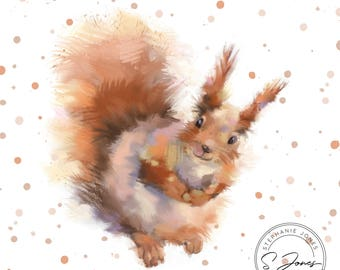 fine art print - squirrel