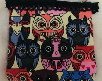 Colorful Owl Pouch