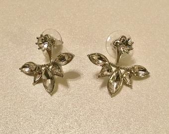 Convertible Rhinestone Post Earrings