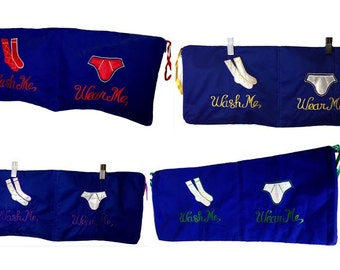 """Wash Me Wear Me Undies Travel Bag Organiser Buy 2 Get one Free (Size Total length 22"""" inches(56cm) , Height 8.5"""" (22cm)"""