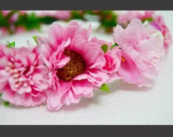 """Artificial flower crown """"Rosie"""""""