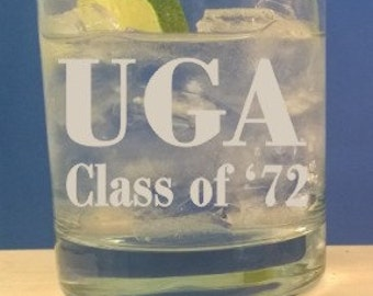 Personalized 11 oz Rocks Glass- Engraved Tumber-On The Rocks Glass-Bourbon Glass-Scotch Glass-Birthday-Fathers Day-Retirement-Free Engraving