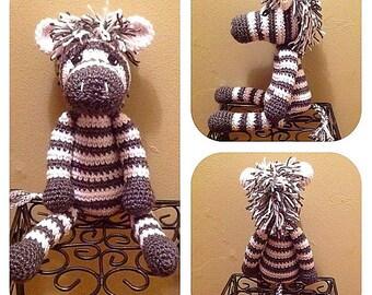 Spunky Crochet Zebra