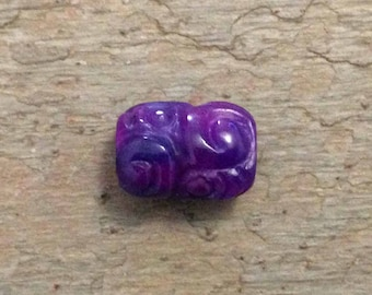 Hand Carved Sugilite Bead.