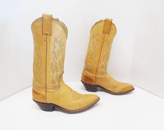 Justin women cowboy western boots size 5.5