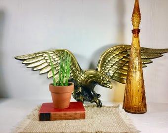 Vintage Metal Cast Brass Eagle