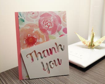 Thank You Card - Greeting Card - Pretty Card - Flower Card