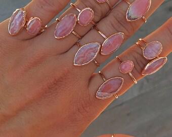 Rhodochrosite Ring // Rhodochrosite Copper Ring // Rhodochtosite Rose Gold Ring