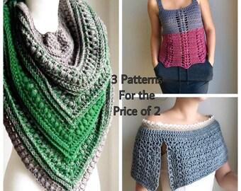 Crochet Pattern Women, Free crochet pattern, Crochet Shawl Pattern, Crochet Top Pattern, Crochet Cape, Free Pattern