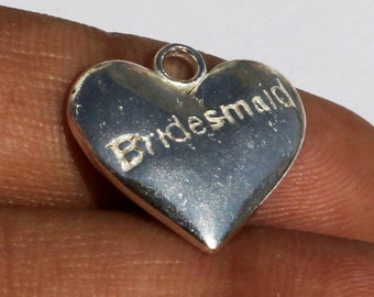 Silver Plated Brass Heart Charm 16x16 mm Heart Charm Pendant, Small Charm Pendant CH40
