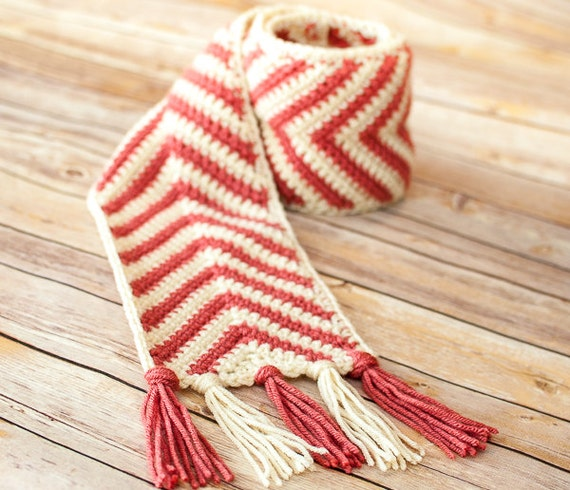 Crochet Pattern - Chevron Ripple Scarf Pattern (Perfect for the ...