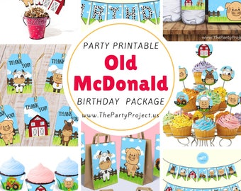 Sale DIY PRINTABLE Farm Party Package