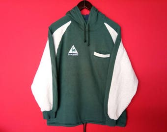 vintage le coq sportif sweatshirt hooded medium mens size