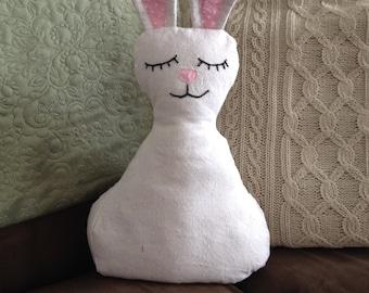Bunny Pillow, Easter Pillow, Rabbit Pillow,  Easter Table Decor, Rabbit Decor, Handmade, Spring Pillow, Spring Decor
