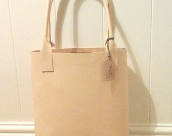 Leather Light Tan Tote