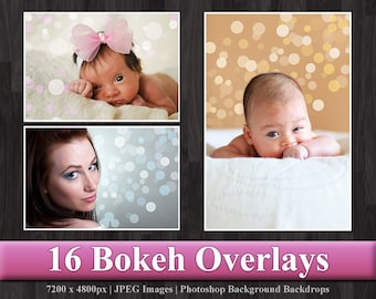 Bokeh Overlay - Photoshop Digital Background Backdrop Texture
