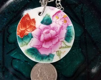 Asian plate necklace