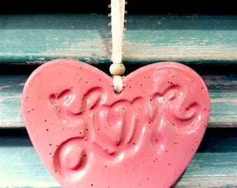 LOVE Heart shaped ornament