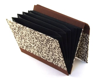 Accordion Folder - Memo Pocket Renaissance Ornament brown