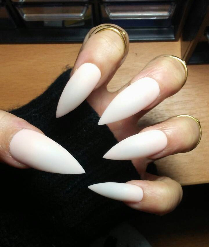 Nude Matte Stiletto Nails Long or Short Acrylic Press on