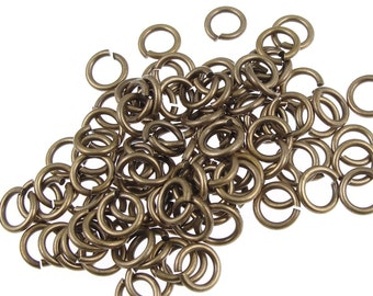 100 TierraCast 7mm 16 gauge Jump Rings - Vintage Style Antique Brass Oxide Finish (PH18)