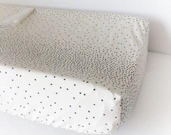Moderne Kinderzimmer Bettwäsche - Bio Wickeltischauflage / schwarz Krippe Bettwäsche / Einbau Spickzettel / Mini Krippe Blatt / Blätter Babyletto Mini