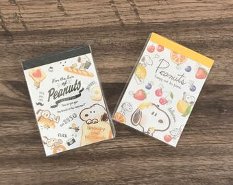 SNOOPY memo pads Fruits/Bread
